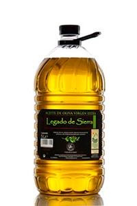 garrafa 5 litros de aceite picual legado de sierra